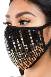 R+D  Ombre Sequin Face Mask - Product Mini Image