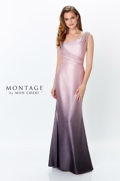 Montage Ombre Shimmer Gown, Peacock/Navy - Alternate List Image