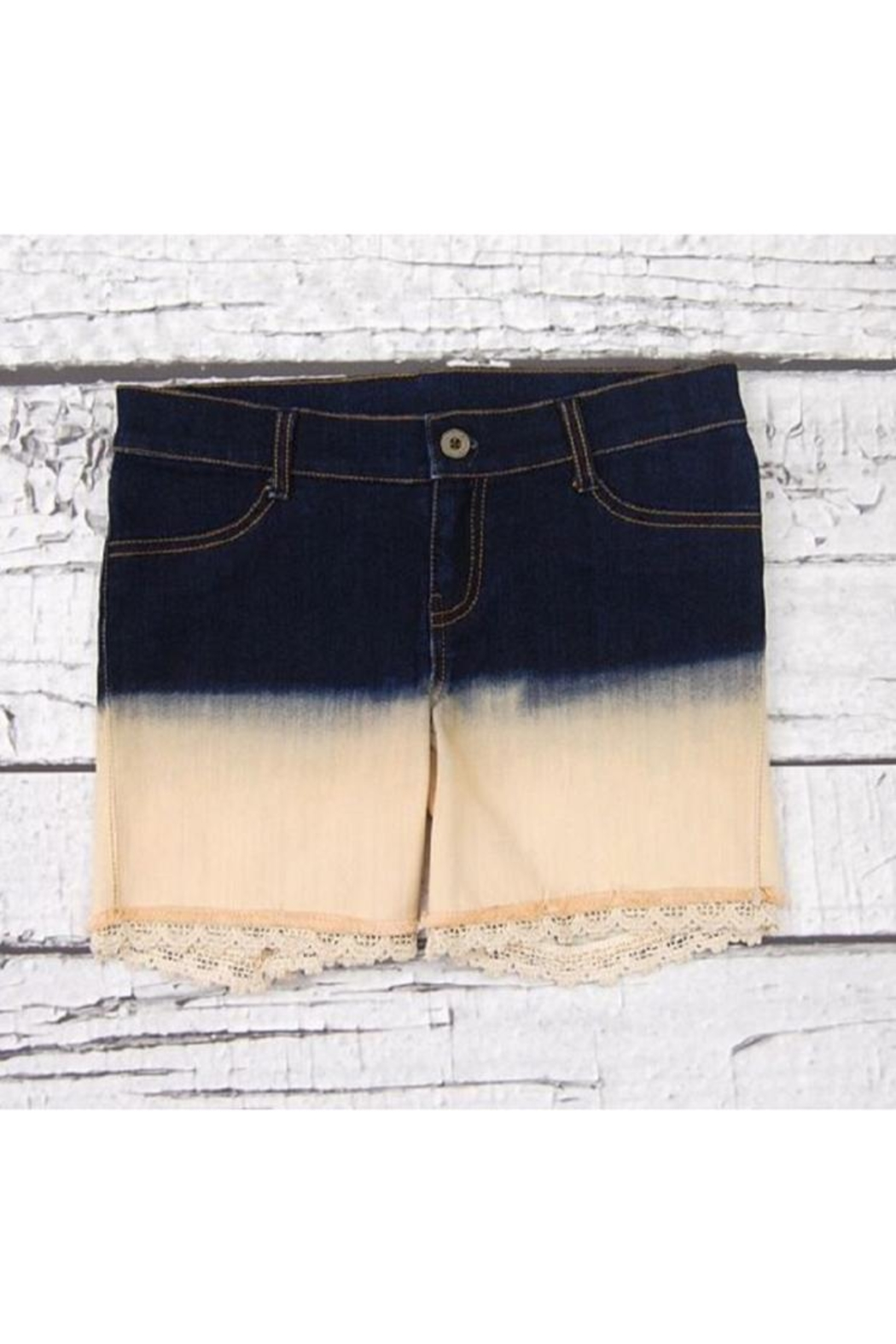 Jak & Peppar Ombre Sunset Cutoffs - Front Cropped Image