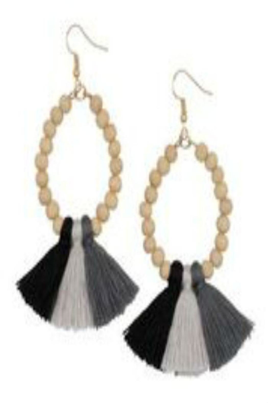 Occasionally Made Ombre Tassel Earrings - Main Image
