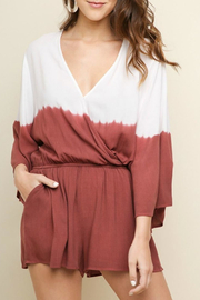 Umgee USA Ombre Tiedye Romper - Front cropped