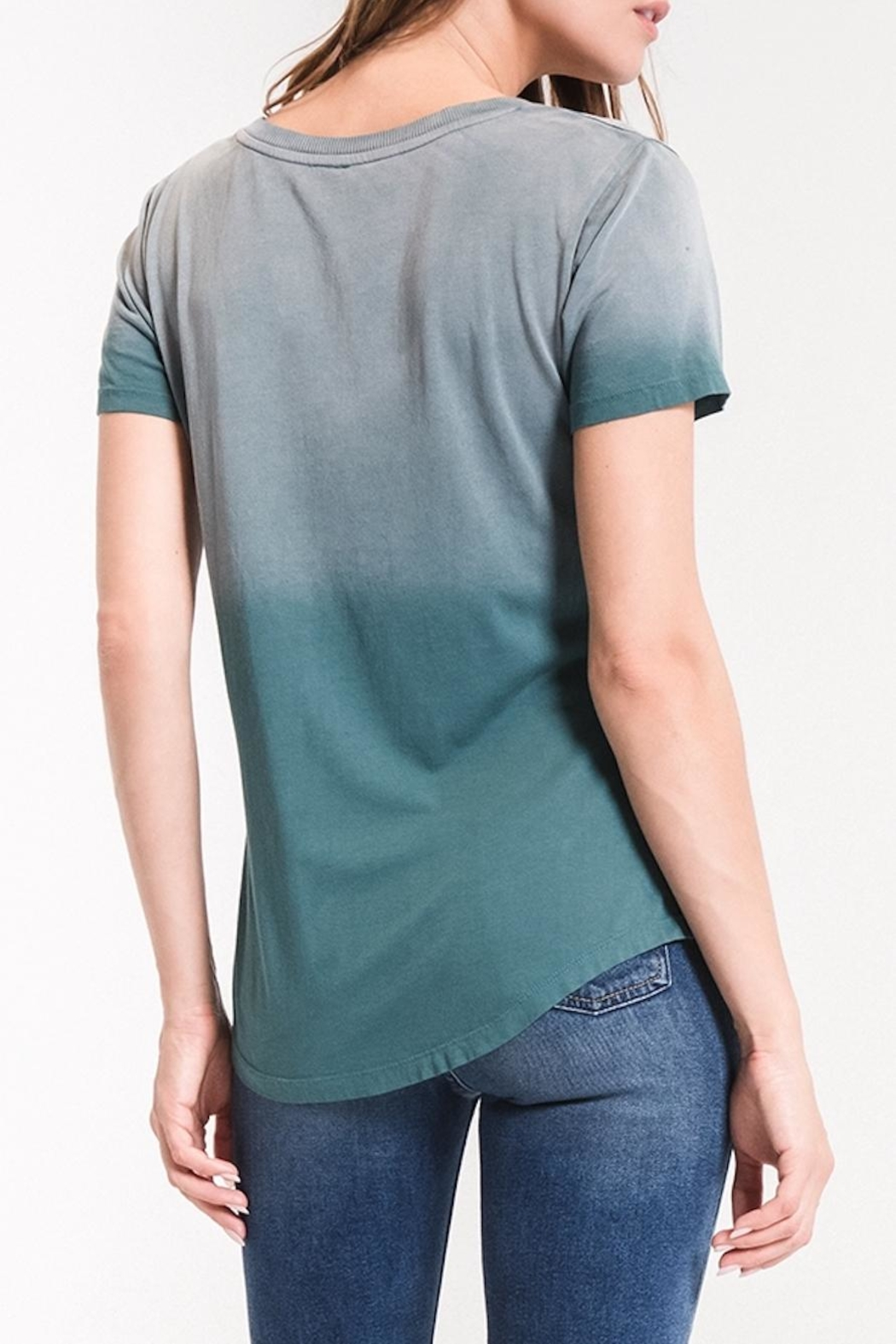 z supply Ombre v-Neck Tee - Side Cropped Image