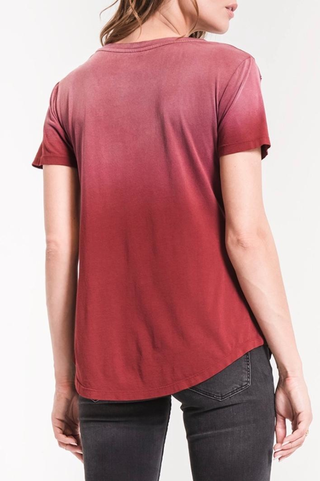 z supply Ombre V-Neck Tee - Front Full Image