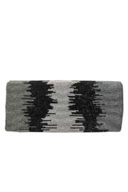 Sondra Roberts Ombred Beads Flap Clutch - Front cropped