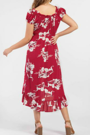 Tribal ON-AND-OFF-SHOULDER FLORAL DRESS - Front full body