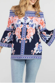 Tribal  On and Off shoulder top - Product Mini Image