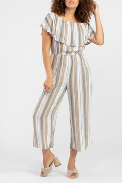 Shoptiques Product: on & off shoulder jumpsuit