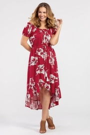 Tribal  On or Off the Shoulder Floral Dress - Product Mini Image