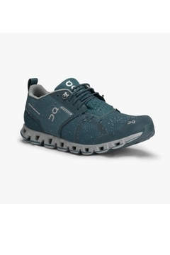 on running On Running Women's Cloud Waterproof in Storm/Lunar - Product List Image