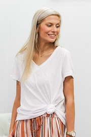 Cotton Bleu On The Edge Top - Front cropped