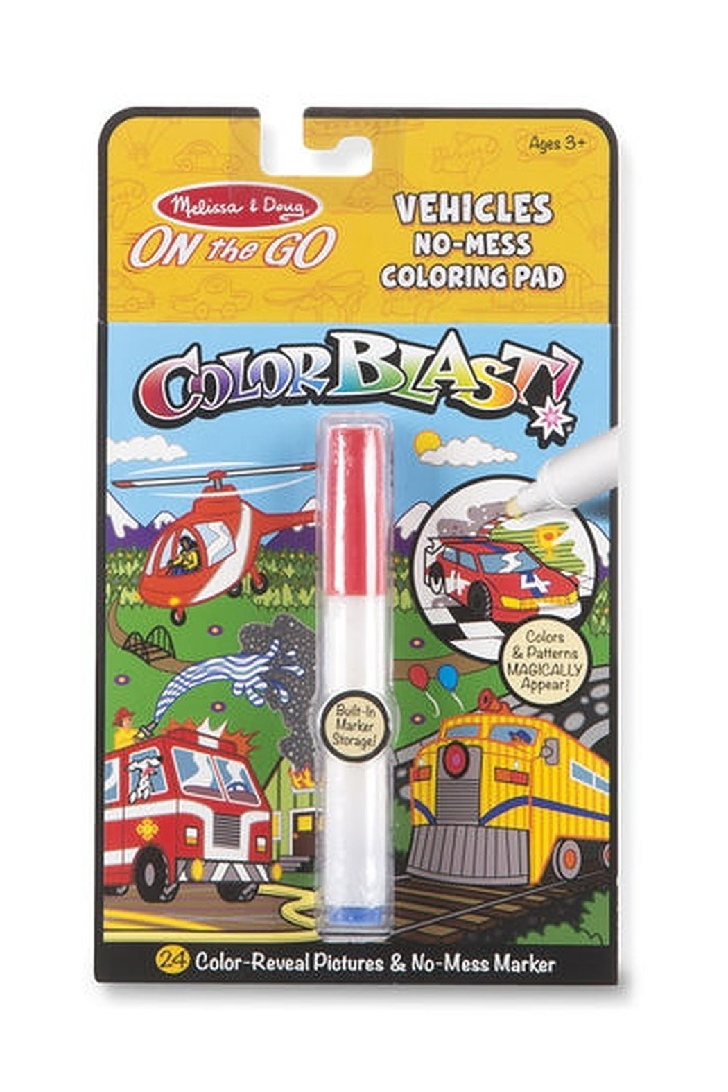 Melissa and Doug On The Go Color Blast No-Mess Coloring Pad - Front Cropped Image
