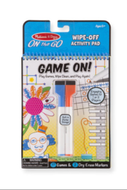 Melissa and Doug On The Go Game On Wipe-Off Activity Pad - Product Mini Image