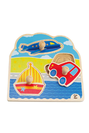 Hape  On-The-Go Knob Puzzle - Front cropped