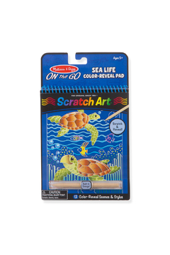 Melissa and Doug On The Go Scratch Art Color Reveal Pad: Sea Life - Product List Image
