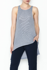On The Road Blue Stripe Top - Front cropped