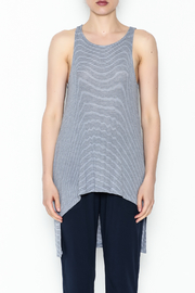 On The Road Blue Stripe Top - Front full body