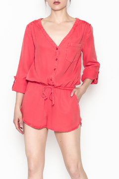 On The Road Coral Romper - Product List Image