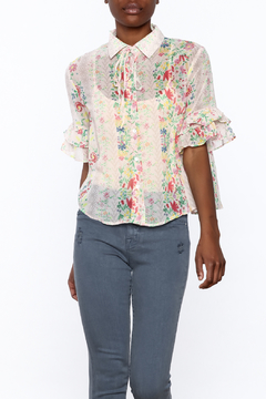 Shoptiques Product: Beige Button Down Blouse