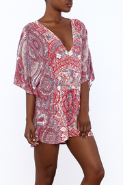 On The Road Paisley Romper - Product Mini Image