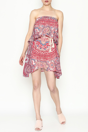 On The Road Strapless Print Dress - Side cropped