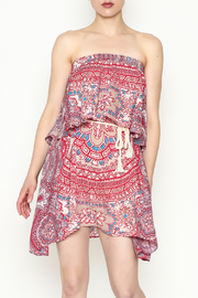 On The Road Strapless Print Dress - Product Mini Image