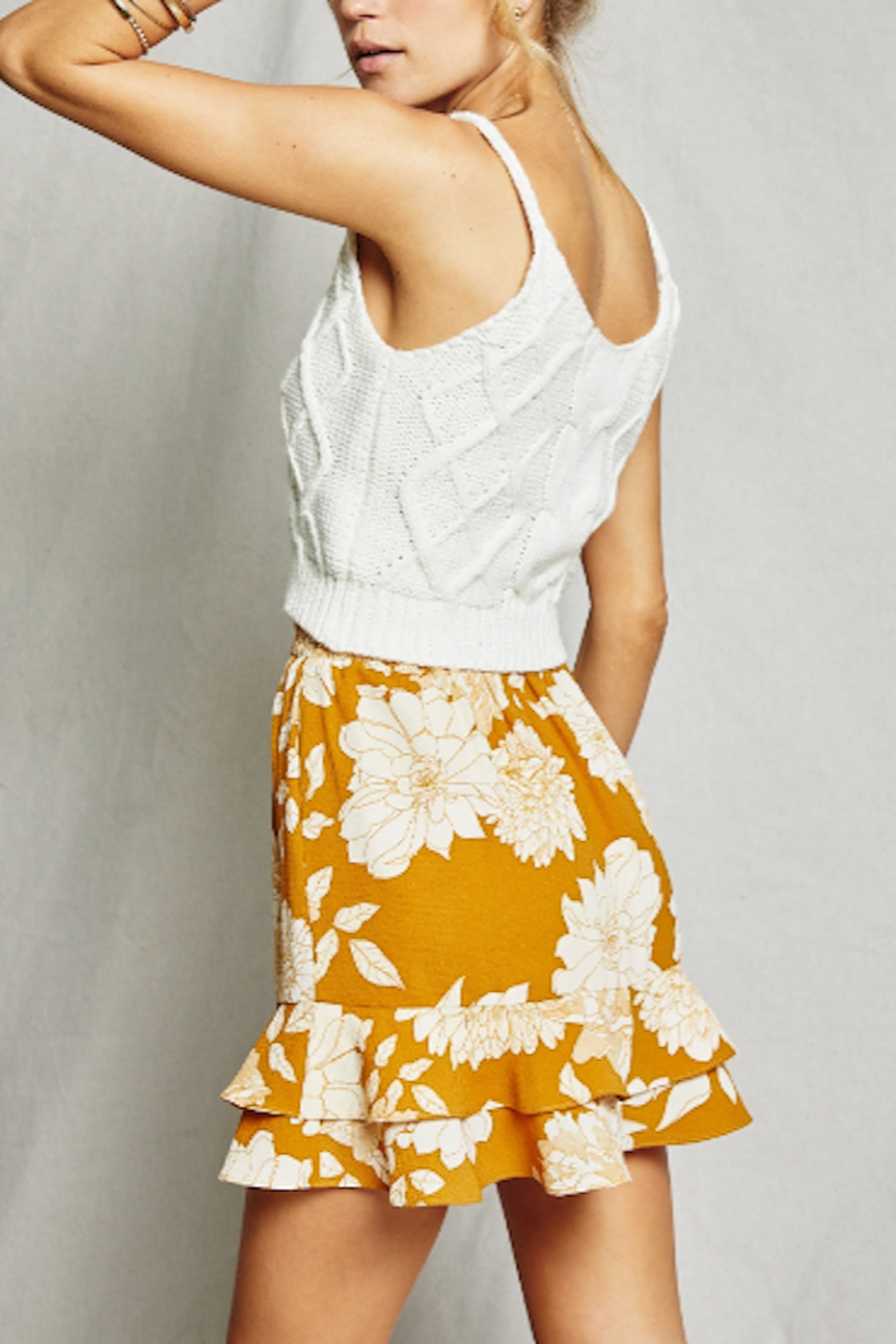 SAGE THE LABEL On The Sunset Mini Skirt - Front Full Image