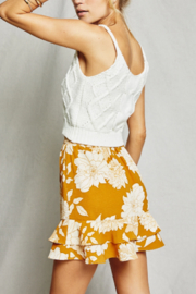 SAGE THE LABEL On The Sunset Mini Skirt - Front full body