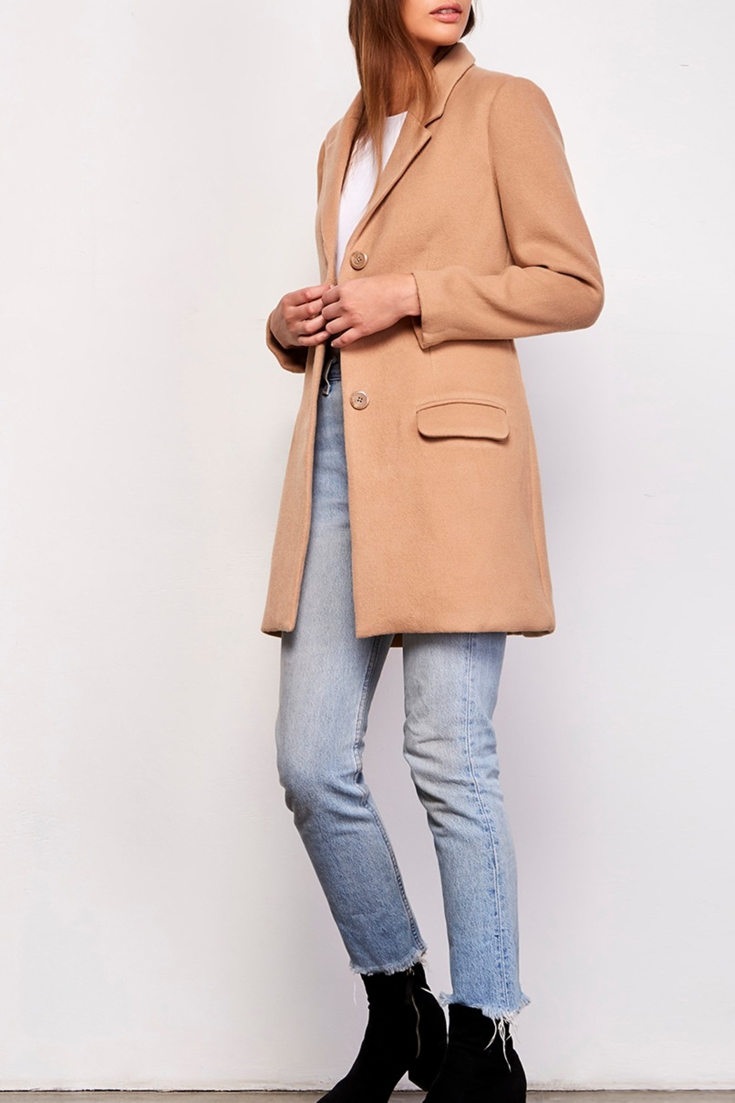 BB Dakota On-Trend Classic Coat - Front Cropped Image