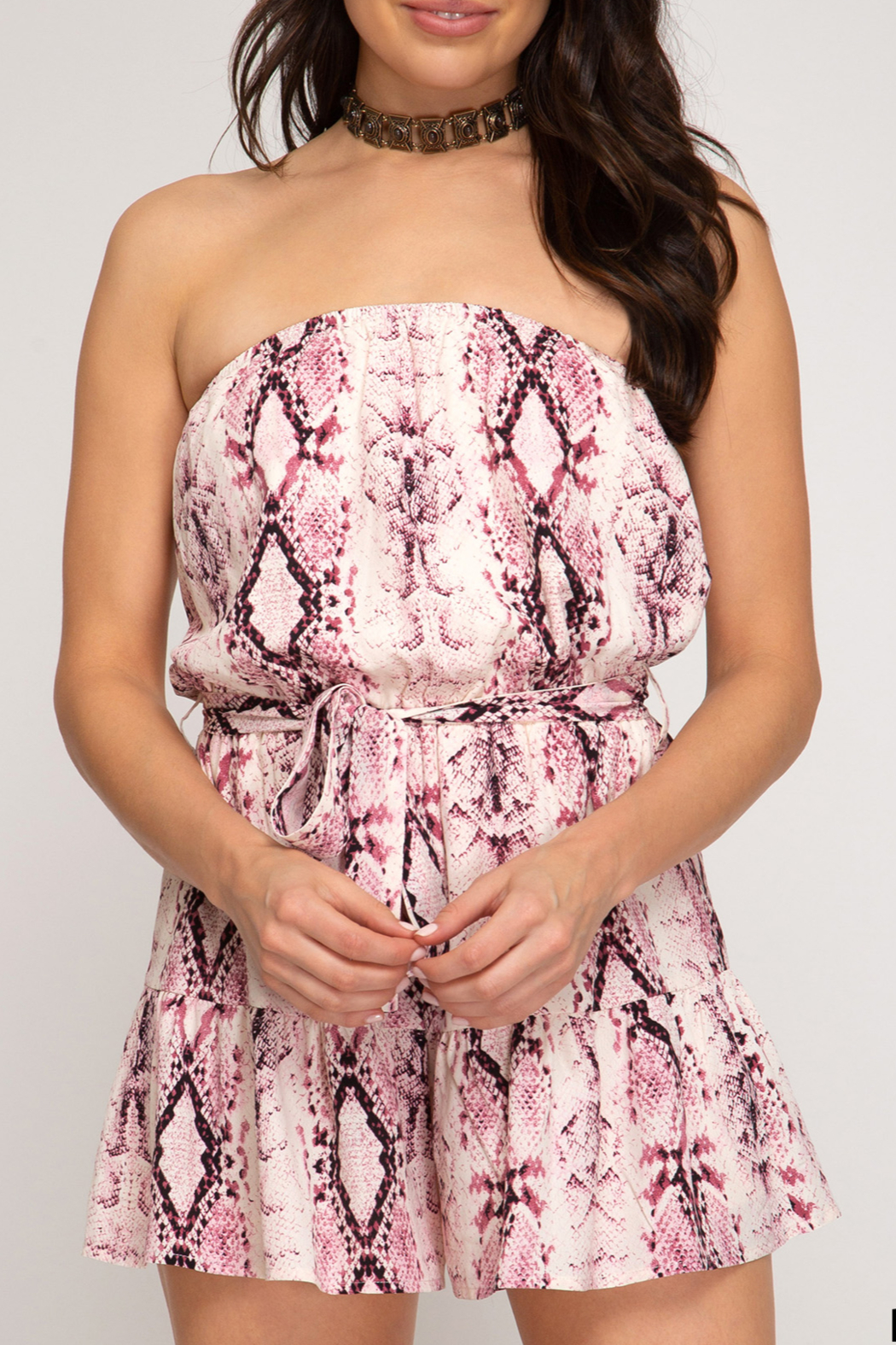 She and Sky On Trend romper - Front Cropped Image