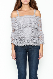 On Twelfth Lace Off the Shoulder Top - Front full body