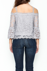 On Twelfth Lace Off the Shoulder Top - Back cropped