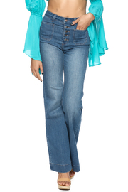 On Twelfth Denim Bell Bottom Jeans - Product Mini Image