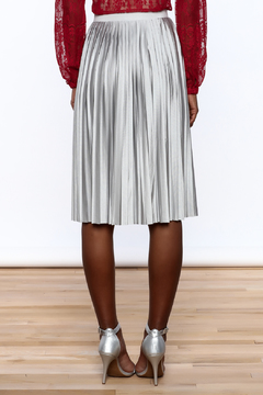 Shoptiques Product: Silver Pleated Skirt