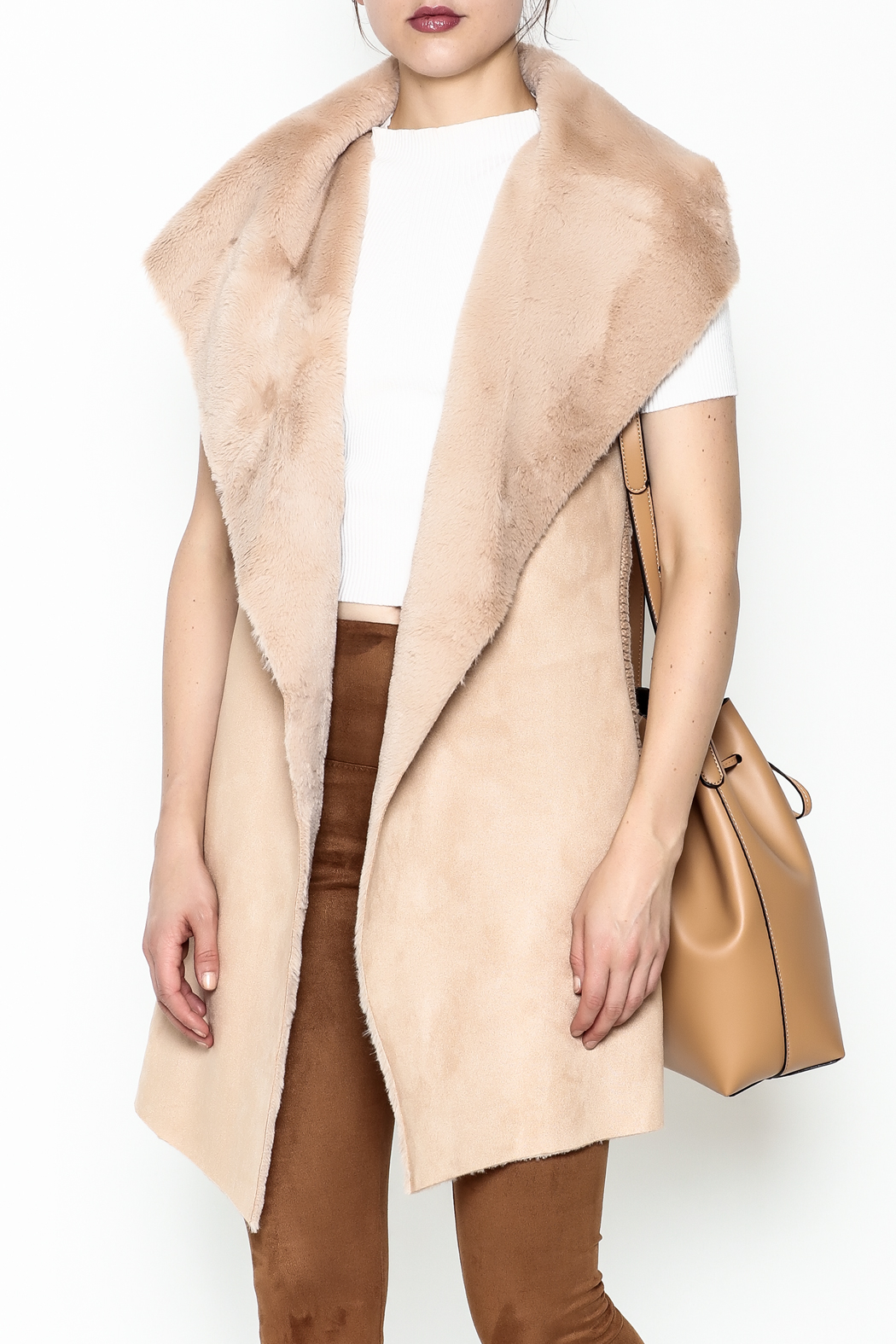 on12th Faux Fur Vest - Main Image