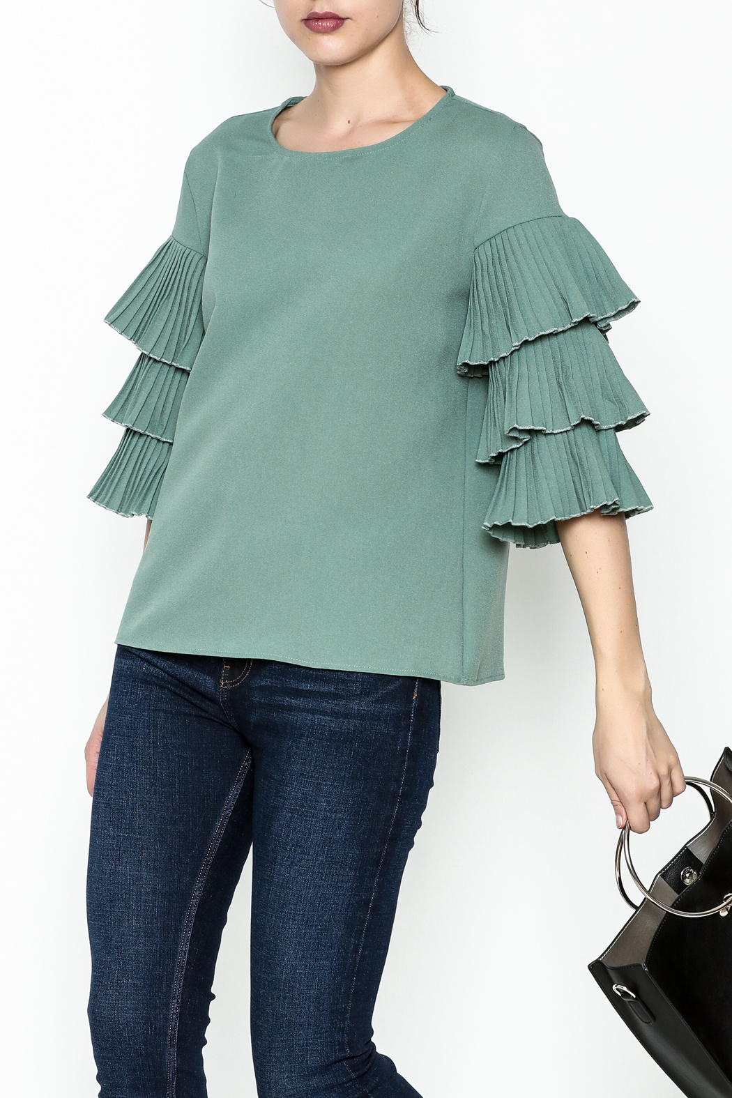 on12th Ruffle Sleeve Blouse - Main Image
