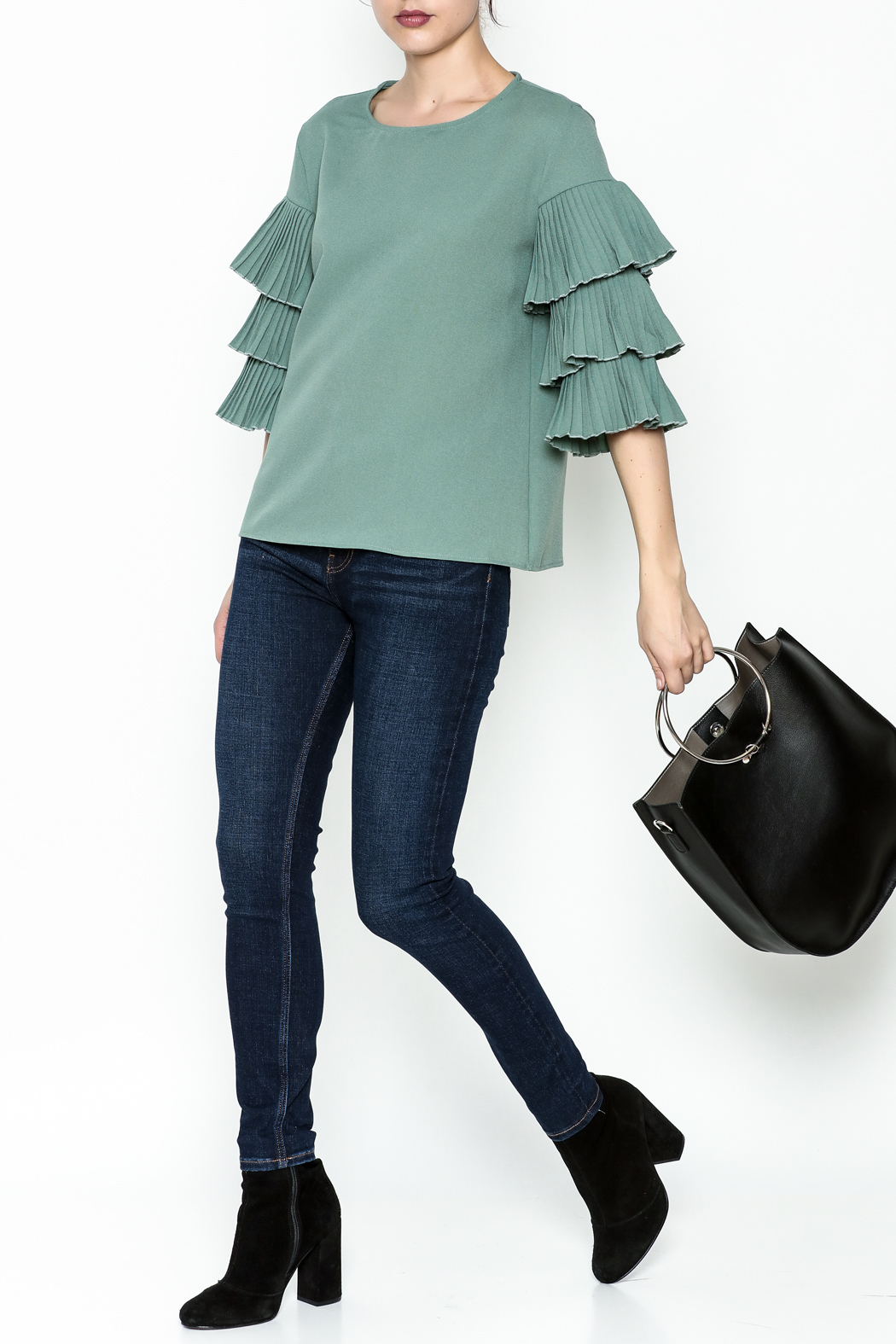 on12th Ruffle Sleeve Blouse - Side Cropped Image