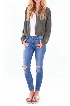 Shoptiques Product: Cropped Green Jacket