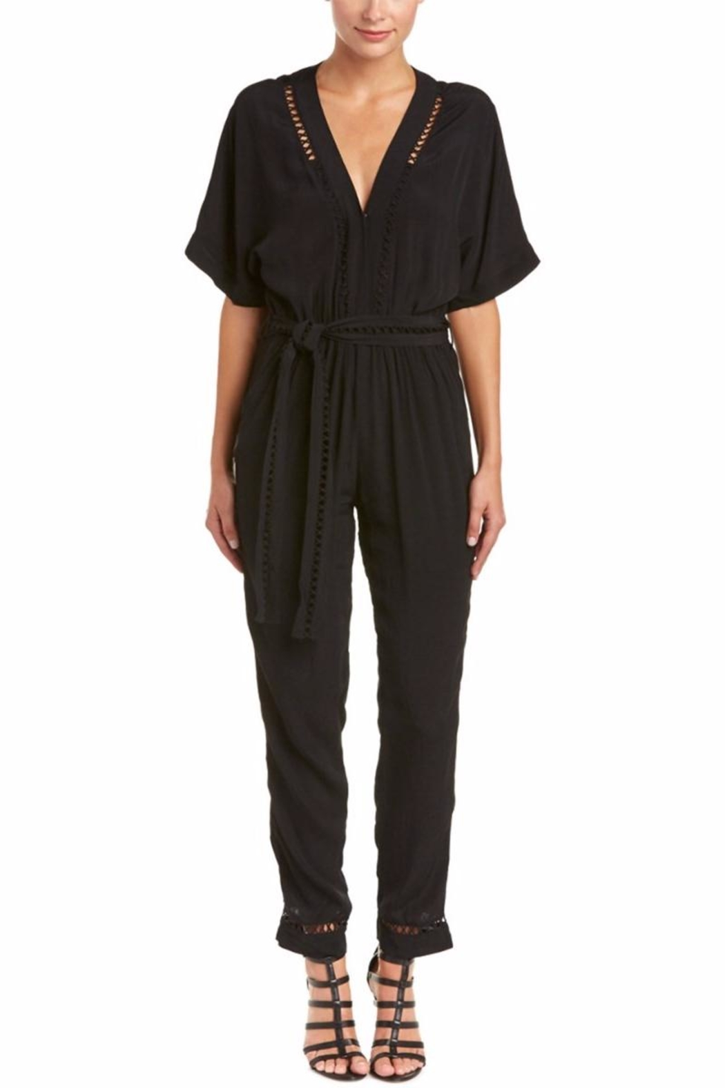 On The Road Lattice-Stitch Jumpsuit - Main Image