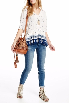 On The Road Printed Peplum Top - Alternate List Image