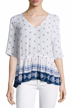 On The Road Printed Peplum Top - Product List Image