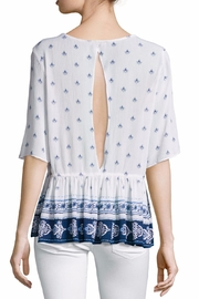 On The Road Printed Peplum Top - Front full body