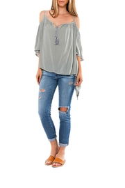 On The Road Strappy Cold Shoulder Top - Product Mini Image