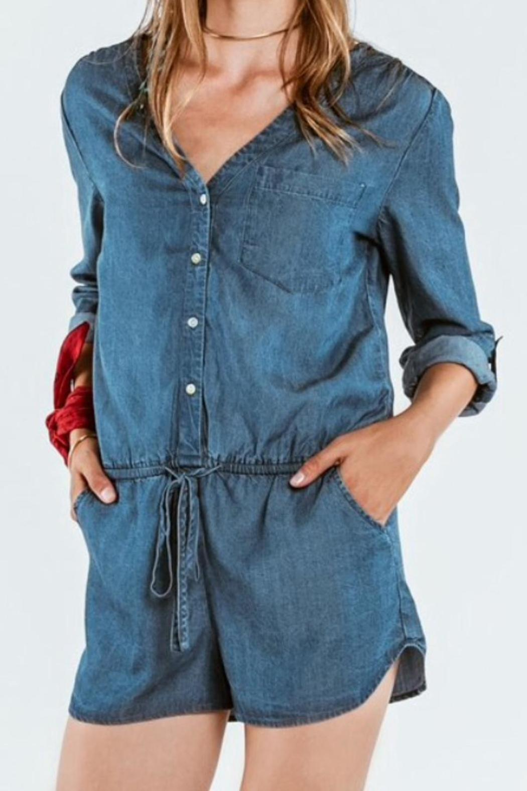 On The Road Tencel Chambray Romper - Main Image