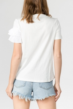 On Twelfth Asymmetrical Ruffle T-Shirt - Alternate List Image