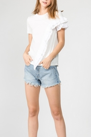 On Twelfth Asymmetrical Ruffle T-Shirt - Product Mini Image
