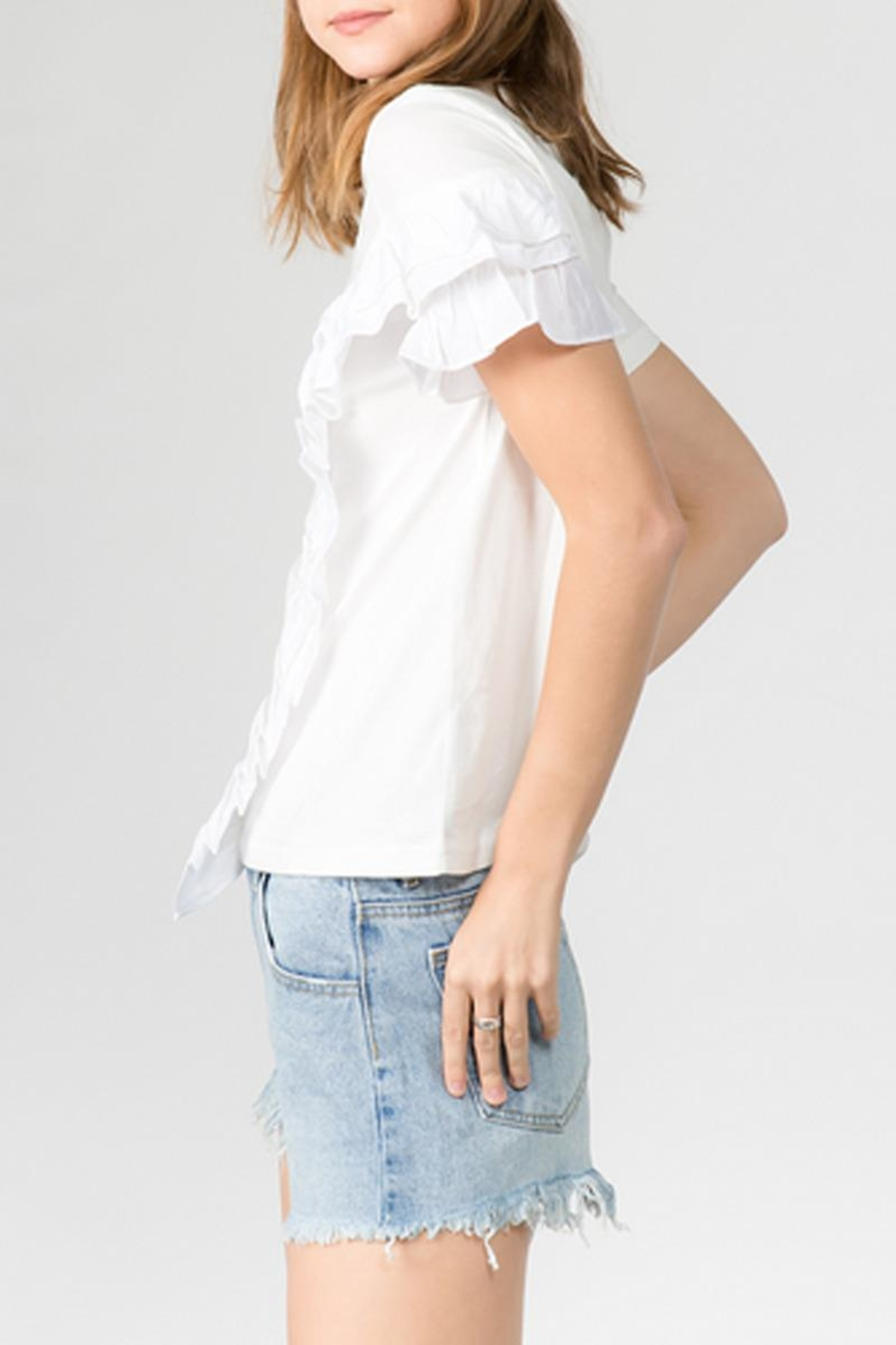 On Twelfth Asymmetrical Ruffle T-Shirt - Front Full Image
