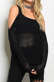 On Twelfth Cold Shoulder Sweater - Front cropped
