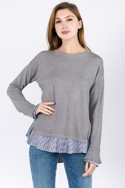 On Twelfth Contrast Bottom Sweater - Product Mini Image