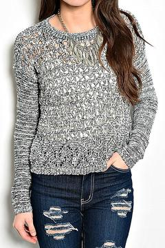 Shoptiques Product: Cropped Open-Knit Sweater