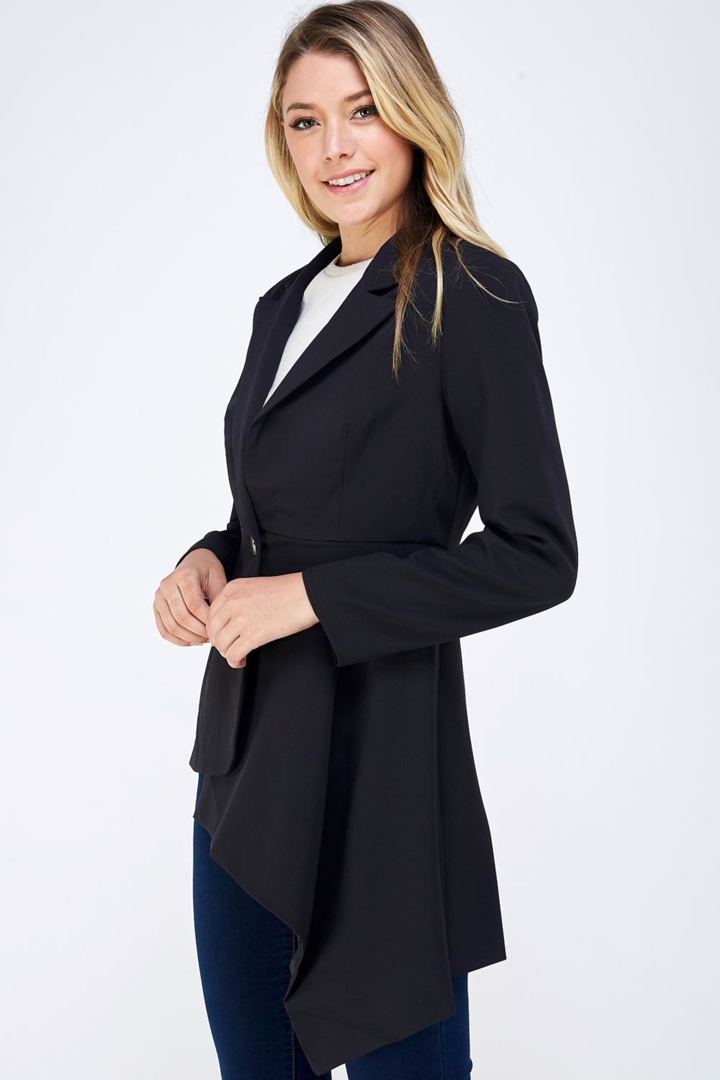 On Twelfth Fitted Asymmetrical Blazer - Side Cropped Image